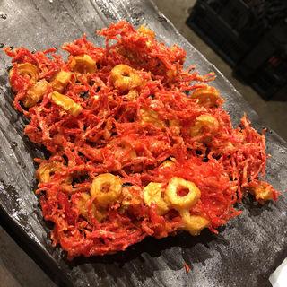 紅生姜とちくわ揚げ(九州 海鷹 清川店)