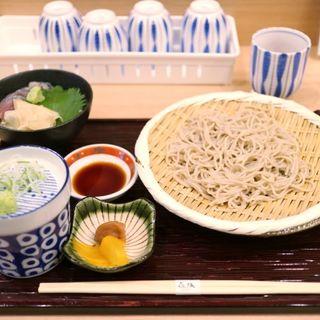 ミニ〆鯖丼+ざる蕎麦(割烹 きばり)