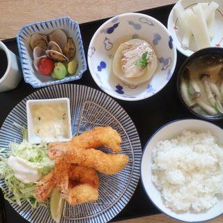 大海老フライ定食(七勺日本酒・醸し肴 SEVEN)