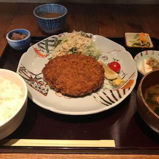 メンチカツ定食(料理屋 三船 )