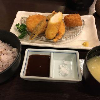 ささみカツ・一口カツ・カニクリーム膳(イマカツ 銀座店)