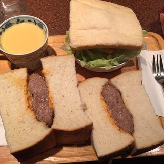 サンドイッチセット ハンバーグサンド(アメリカン )