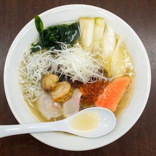 南三陸ネギ潮の幸ラーメン(麺や 睡蓮)
