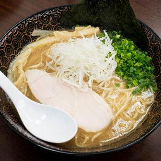 鶏白湯 生揚げ醤油(玉ネギごはん付き)(麺や 睡蓮)