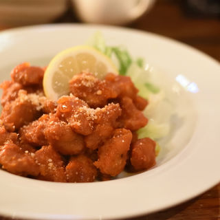 鶏ナンコツ揚のアラビアータ(串どれ 八王子店 )