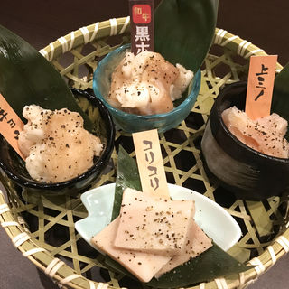 あっさり塩4種盛り(新宿靖国通り酒場 情熱ホルモン)