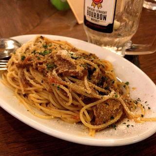 仔羊のラグーソースのスパゲッティ(大衆ビストロ煮ジル 五反田店)