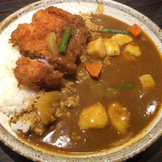 手仕込みチキンカツカレー+野菜 3辛(CoCo壱番屋 昭和御器所店 (ココイチバンヤ))