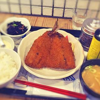 アジフライ定食(梅山鉄平食堂 )