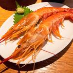 赤海老の刺身定食