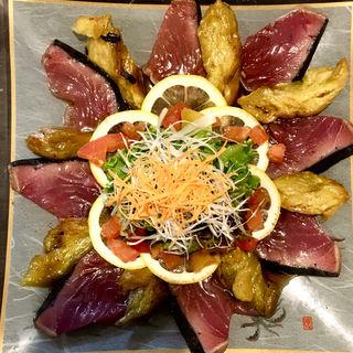 カツオと焼き茄子のカルパッチョ(旬味旬菜 大和)
