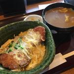 ミニカレーうどん&カツ丼セット(一久庵 )