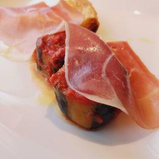 イタリア産の生ハム&キッシュ&ナス煮込み(ラ・パッラ )
