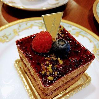 フランボワーズショコラ(カフェレストラン ミレフォリア)