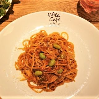 枝豆のミートソーススパゲッティ(フラッグスカフェ&ダイニング )