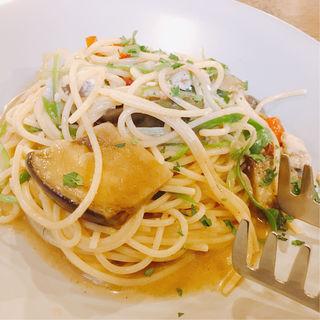 鱧と賀茂茄子のアーリオオーリオ 山椒風味(CAFE RIGOLETTO (カフェリゴレット))
