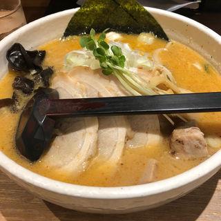 味噌チャーシュー麺(大盛)(白樺山荘 京都拉麺小路店)