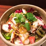 蛸の野菜サラダ