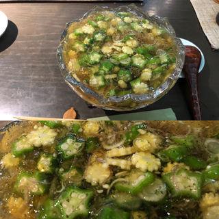 夏野菜のジュレ蕎麦(銀杏 (ぎんなん))