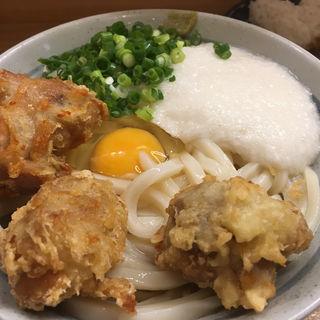 鶏天月見山うどん(うどん甚三 (じんざ))