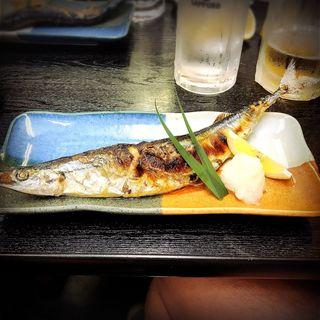 新さんま塩焼き(大衆割烹 藤八 (たいしゅうかっぽうとうはち))