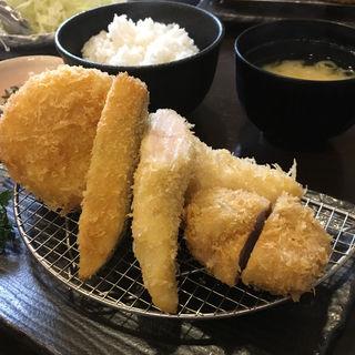 イマカツ膳(メンチカツ・ささみカツ・一口ヒレ・カニクリーム)(銀座イマカツ)