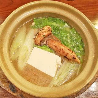 鶏だし松茸鍋(鶏匠 (とりしょう))