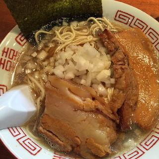 三段仕込みの淡麗中華そば(麺や而今 (じこん))