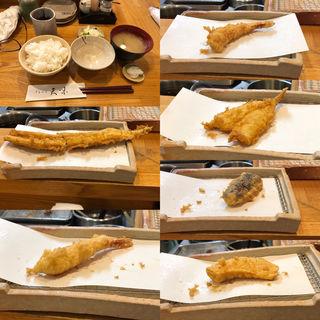 3上てんぷら定食(海老2本きすあなご野菜2品)(天味 (テンプラテンミ))
