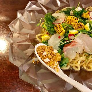 限定 汁なし麺 あなたに愛鯛ペペロンチーノ(海老丸らーめん)