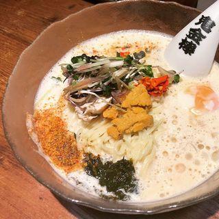 限定 冷しカラシビ磯ラーメン(カラシビつけ麺 鬼金棒 (キカンボウ))
