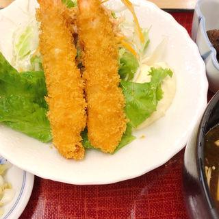 海老フライ定食(えび三郎)