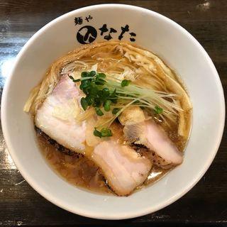 鮭節の冷やしらーめん(麺や ひなた)