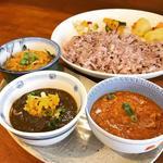 本日のカレー ( 3種盛り )(初台スパイス食堂 和魂印才たんどーる)