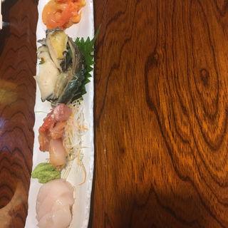 貝の刺身(焼き貝うぐいす )