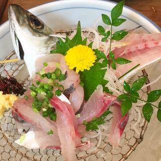 鯵たたき(謙徳蕎麦 エンゼル店 (けんとくそば))