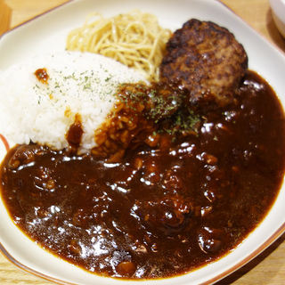 ハヤシライス&和牛入りハンバーグ(肉MUSCLE スグル)