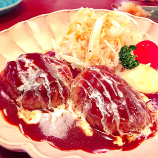 喫茶店のハンバーグ(日本酒バル 福33 (フクミミ))