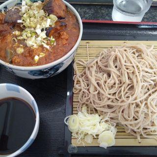 Aセット ざる蕎麦と麻婆茄子丼(à la 麓屋 (あら ふもとや))