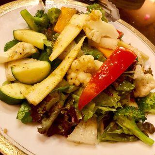 季節野菜の温野菜サラダ(ジェリービーンズ )