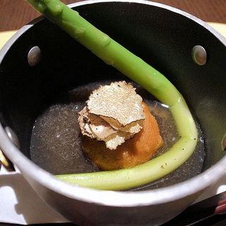 胡麻豆腐の鯛の餡かけ(さ行)
