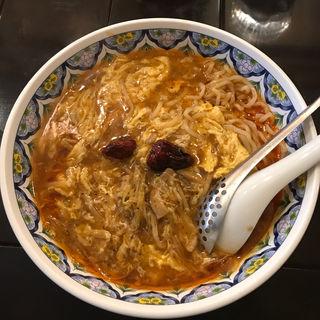 激辛酸辣湯麺(中国ラーメン揚州商人 赤坂店 (チュウゴクラーメン・ヨウシュウショウニン))
