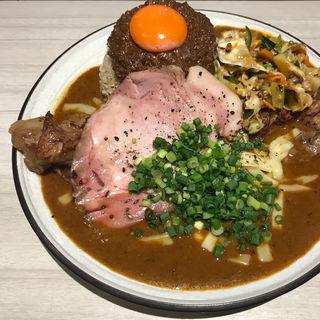 辛口 豚 キーマ ローストポーク アチャール チーズ(吉田カレー  )
