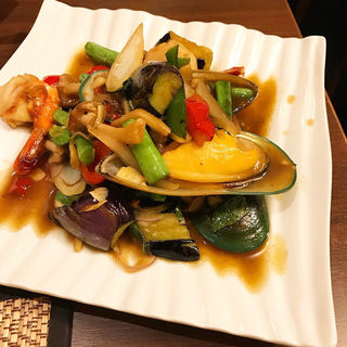 シーフードのスパイス炒め(ジャスミン タイ コレド室町店 (JASMINE THAI))