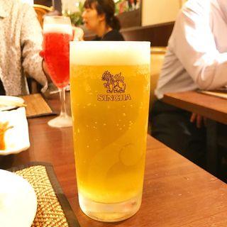 樽生シンハービール スモール(ジャスミン タイ コレド室町店 (JASMINE THAI))