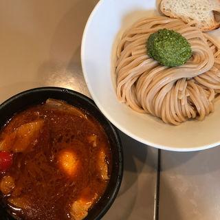 海老トマト 肉と玉子入りつけ麺(五ノ神製作所 )