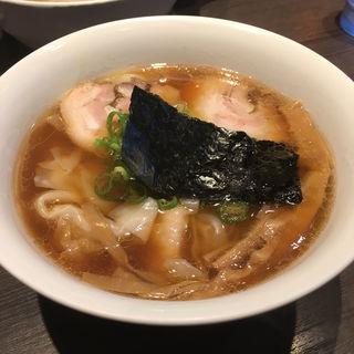 醤油 山水地鶏 ワンタン麺(支那そばや本店 )