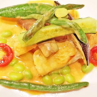 白身魚のグリル エビ風味のクリームソース(ビストロ309 サンシャインシティアルパ店)