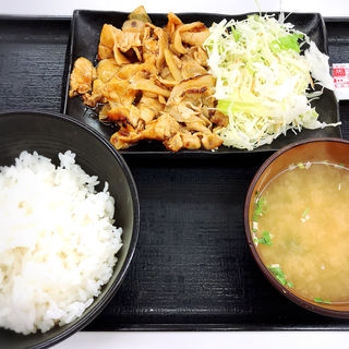 豚生姜定食(吉野家 中目黒駅前店 )