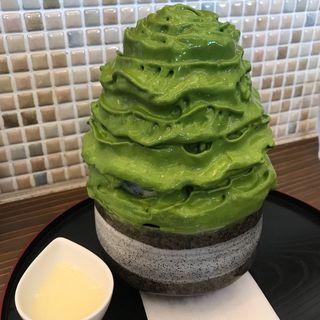 西尾の抹茶エスプーマ氷(cafe LUKE)